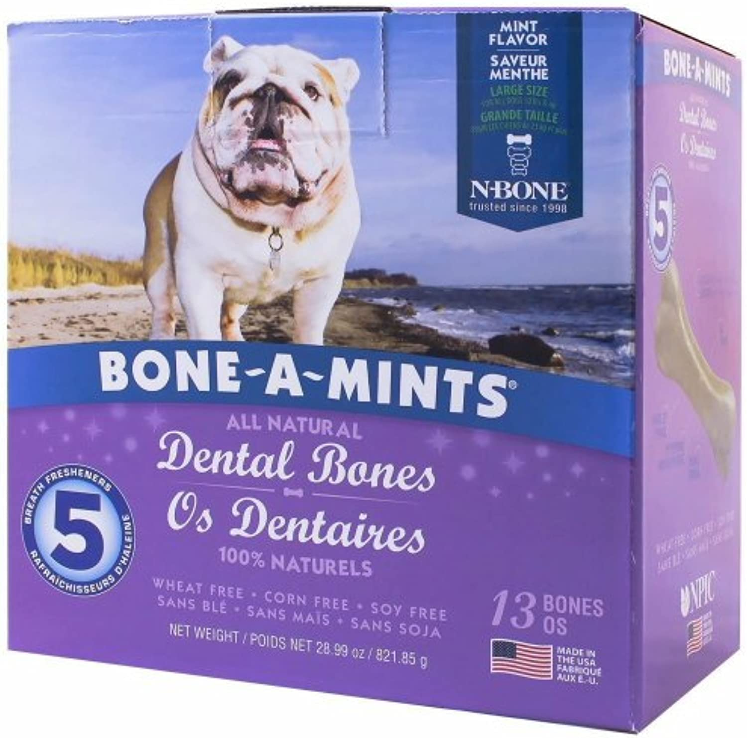 BoneAMints Dental Bones  Large (13 Pack)