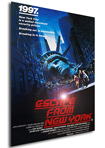 Instabuy Poster Escape from New York (Rescate en Nueva York) Vintage Movie Poster - A3 (42x30 cm)