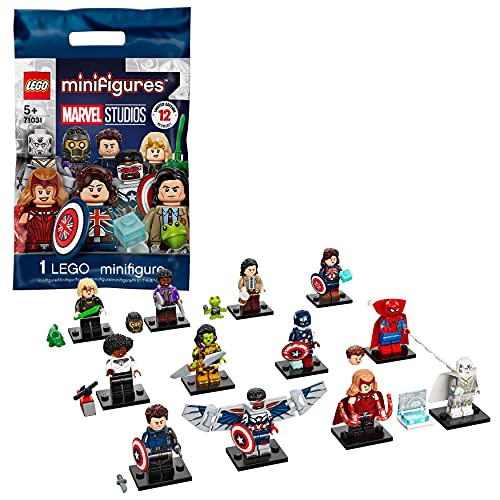 LEGO 71031 Minifiguren Marvel Studios Superhelden Bauspielzeug 1/12 Sammelfiguren kreative Geschenkidee für Jungen und Mädchen ab 5 Jahren