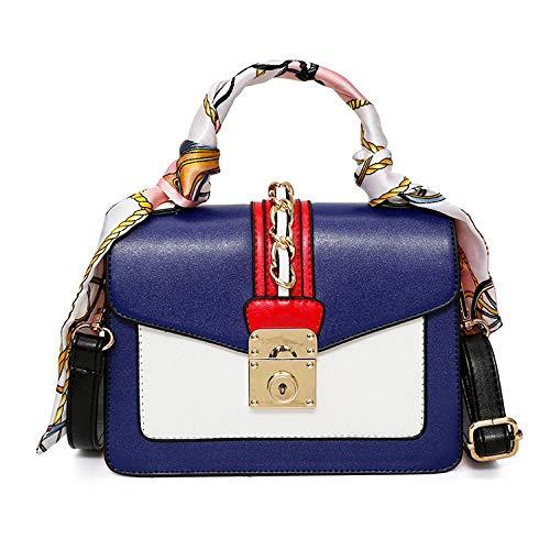 Backpack-Showya BolsosMochilaParaMujer Bolsos Bandolera Para Mujer Pañuelo De Seda Con Bolso Móvil;Bolso De Hombro De BloqueoBolso Cuadrado Diagonal Color Contraste