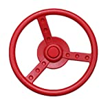 HIKS Red Kids Childrens Steering Wheel For Climbing Frame, Tree House & Play House