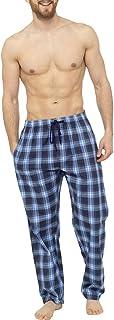 SiXsigma Sports Men's Single Pack Checked Patterned Bottoms Cotton Blend Woven Pyjama Pants M-L-XL-XXL