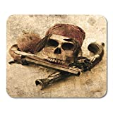 Emvency Mouse Pads Ship Pirate Halloween Gun Carnival Skull Coconut Mousepad 9.5' x 7.9' for Laptop,Desktop Computers Accessories Mini Office Supplies Mouse Mats