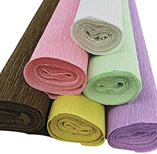 Just Artifacts Premium Crepe Paper Rolls - 8ft Length/20in Width (6pcs, Color: Donut)