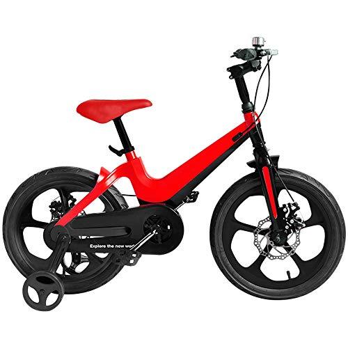Axdwfd Kids Bike Jongens Fietsen, 3-6 Jaar Kinderen Fiets 14 Inch Mountainbikes Met Training Wielen En Dubbele Hand Remmen