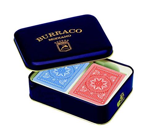 Modiano Buraco-Spielkarten in Blechschachtel