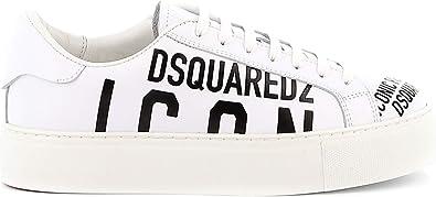 DSQUARED2 Sneakers Bianca con Scritte Nero
