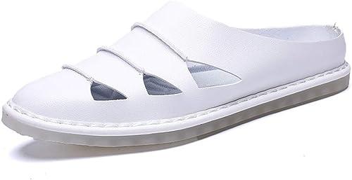 Scennek, Sandales Compensées Homme - Blanc - Blanc, 46.5 EU