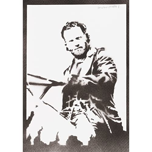 Poster Rick Grimes The Walking Dead Handmade Graffiti Street Art - Artwork