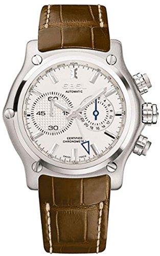 Ebel Automatic Herren Uhr analog Automatik mit Leder Armband 1215626