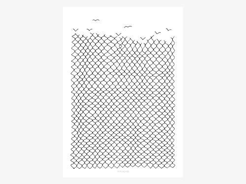 Kunstdruck Poster - Boundless - von typealive - Print in schwarz-weißem Scandi Style und schlichtem Design in verschieden Formaten