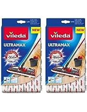 Vileda UltraMax 1-2 Zapasowe Pady Z Mikrofibry Białe 2 sztuki