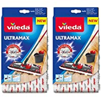 Vileda/UltraMax 1-2 Spray Microfibra Restickable - Paquete de 2
