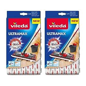 Vileda/UltraMax 1-2 Spray Microfibra Restickable - Paquete de 2