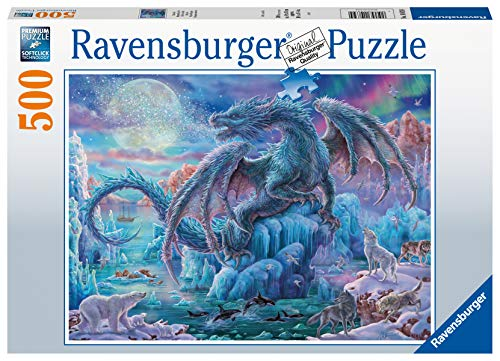 Ravensburger Puzzle 14839 - Eisdrache - 500 Teile Puzzle für Erwachsene und Kinder ab 10 Jahren, Fantasy-Puzzle mit Drachen-Motiv