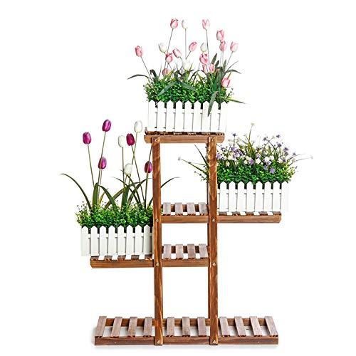 Heqianqian Estante para flores de madera de varios niveles p