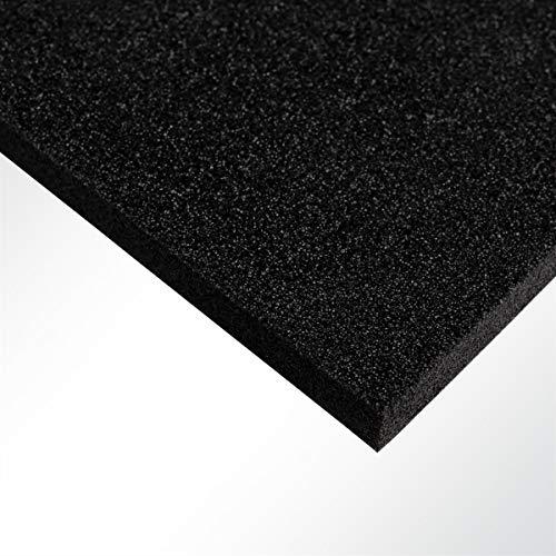 Plastazote® LD29 Polyethylen PE Schaumstoff Hartschaumstoff schwarz 100x50x1cm