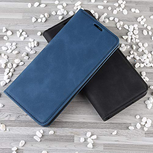 Haoye Passend für Huawei P40 Pro Hülle, hat Magnet-Adsorption-Fähigkeit Premium PU Leder Handyhülle. Blau - 3