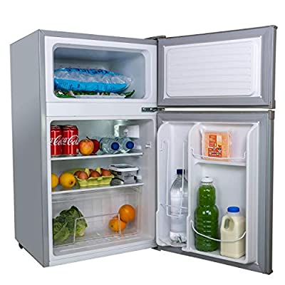 SIA UFF01SS 88L Silver/Grey Freestanding Under Counter Fridge Freezer A+ Energy