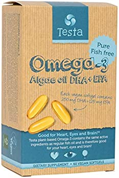 Vegan Omega 3 Supplement - Much Healthier Than Fish Oil - DHA & EPA Omega 3 Fatty acids - Omega 3 from Algae Supports Heart Brain and Joint Health - 60 Vegan softgels