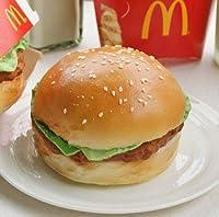 食べないで下さい!どこから見ても本物みたい リアルサイズ ハンバーガー型 リストレスト キーボードクッション