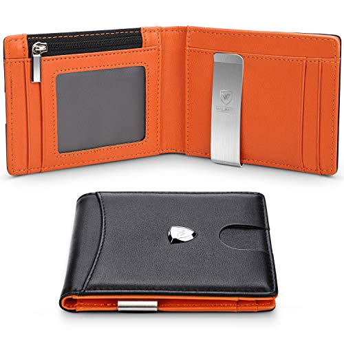 Wallets Mens RFID Blocking with Money Clip, Bi-fold Slim...