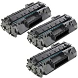 3 Pack 2inkjet Compatible CF280A (80A) Toner Cartridge For LaserJet Pro 400 M401dn, M401dne, M401dw, M401n, M425dn (3 Pack Black)
