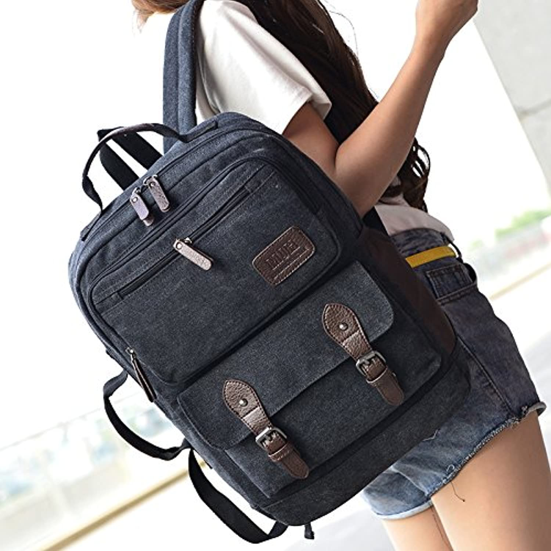 100% precio garantizado Hombres y mujeres casual moda bolso doble doble doble de alta calidad, doble bolso bolsa de ordenador, negro  perfecto