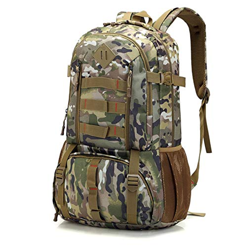 N-B Camouflage Mountaineering Nylon Sports Backpack Outdoor Travel Large Capacity Backpack