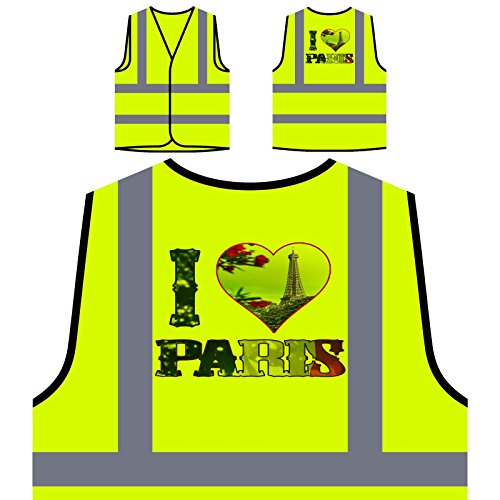 Amo El Arte De París Francia Chaqueta de seguridad amarillo personalizado de alta visibilidad r910v