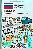 Rusia Mi Diario de Viaje: Libro de Registro de Viajes Guiado Infantil - Cuaderno de Recuerdos de Actividades en Vacaciones para Escribir, Dibujar, Afirmaciones de Gratitud para Niños y Niñas