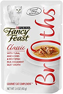 Fancy Feast Broths with Tuna, Anchovies and Whitefish in Silky Broth, 40g