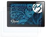 Bruni Schutzfolie kompatibel mit Lenovo IdeaPad Miix 310 Folie, glasklare Bildschirmschutzfolie (2X)