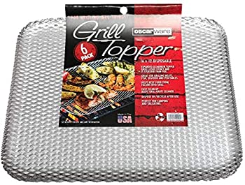 Oscarware Disposable Grill Topper  12 Pack  Rectangular 16x12-Inch Vegetable Grill Tray for Outdoor Grill Disposable Grilling Liners Prevent Food From Falling Through Grill Grates