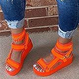 DZQQ Sandalias, Zapatos de Mujer, Tacones Altos de Verano, Zapatos Casuales para Mujer, Sandalias Gruesas de cuña, Sandalias de Moda de Gladiador, Sandalias Altas