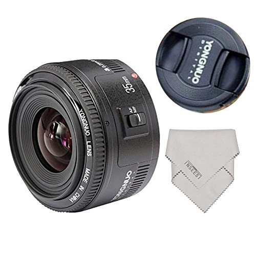 Yongnuo YN35mm F2 35 mm wide-angle grande apertura Auto lente de enfoque fijo + lynca impermeable protege…