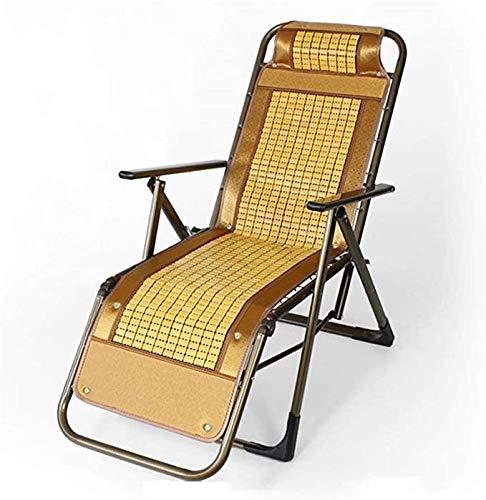 LXX Sillón reclinable sillas de jardín tumbonas Silla Plegable Verano Transpirable Fresco reclinable Oficina Oficina Almuerzo Silla de Descanso Ajustable sillón de salón Ajustable,B