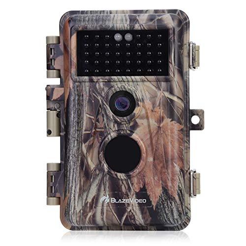BlazeVideo Caza de la Cámara de Seguimiento de la Cámara de Vídeo 20MP 1080P, 70 Pies de Infrarrojos de Visión Nocturna 36pcs Negro LED, Detector de Movimiento, un 2,31' Pantalla LCD Colorido