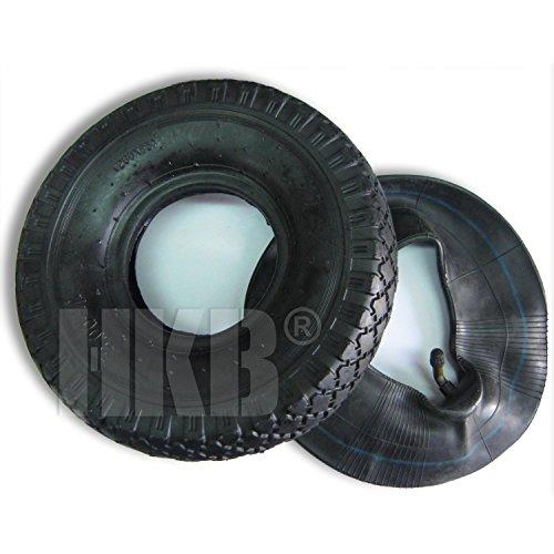 HKB ® 3,00-4 260mm 4 PR Reifen Mantel Decke Ersatzrad mit Schlauch mit Winkelventil für Sackkarre Handwagen Schubkarre Quad 3,00-4 260mm, Artikel-Nr. 420057