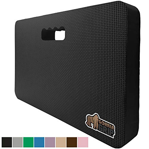 Gorilla Grip Original Premium Thick Kneeling Pad, Comfortable Foam Mat to Kneel On, Knee Pad Cushion for Gardening, Yard Work, Yoga, and Floor Kneeler for Baby Bath, 17.5 x 11 Inch x 1.5 Inch, Black