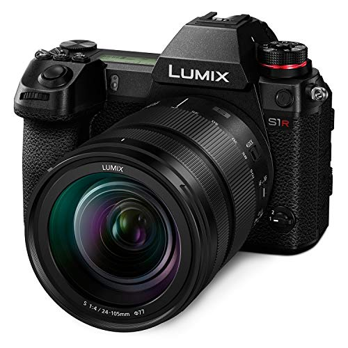 """LUMIX S1R Full Frame Mirrorless Camera with 47.3MP MOS High Resolution Sensor, 24-105mm F4 L-Mount S Series Lens, 4K HDR Video and 3.2"""" LCD - Panasonic DC-S1RMK"""