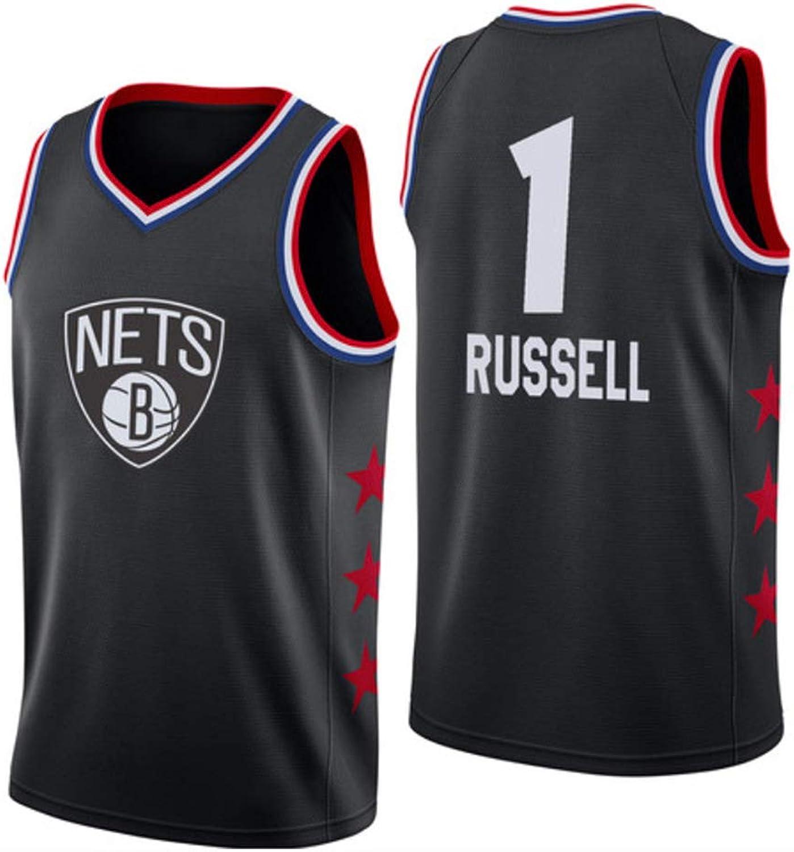 D'Angelo Russell   1 Herren-Basketballtrikot - NBA Brooklyn Nets, New Fabric Embroiderot Swingman Jersey Sleeveless Shirt