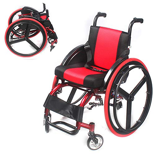 Review Of DNNAL Lightweight Wheelchair Aluminum Alloy Wheelchair, Lightweight and Foldable Frame Por...