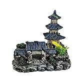 GaoF Decoraciones de Acuario Adornos de Acuario temáticos Pagoda/Bonsai Decor