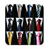 Weishang Lot 12 PCS Classic Men's 100% Silk Tie Necktie Woven JACQUARD Neck Ties...
