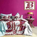 Tagesdecke Bettdecke Set Gothic Abstract B Sign Weiche leichte Bettdecke Falten- / lichtbest?ndig atmungsaktiv maschinenwaschbar