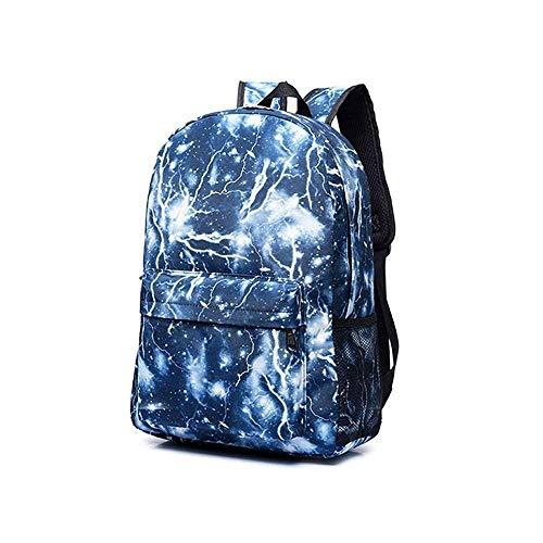 Sac à dos étudiant en plein air imperméable à l'eau et respirant sac à dos, garçon décontracté fille Lightning modèle sac à dos de mode randonnée sport ultra léger sac à dos unisexe personnalisé sac