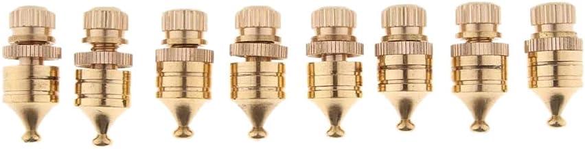 Fltaheroo 8 Stuk Koper Speaker Isolatie Spikes Floor Protectors Isolatie Stand Voet voor Audio Draaitafel Speaker