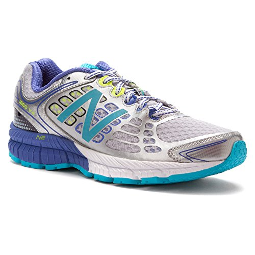 New Balance Women's Silver/Blue W 1260v4 7.5 B(M) US