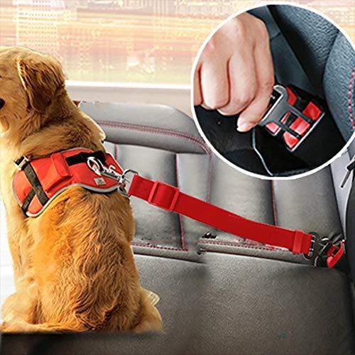 Cinturón de seguridad ajustable para perros y gatos (azul claro)
